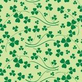 Modèle sans couture vert clair - fond de vecteur de St Patrick illustration stock