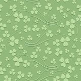 Modèle sans couture vert clair pour le jour de St Patrick - fond de vecteur avec la minette illustration libre de droits