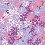 Modèle sans couture vintage floral léger de camomille de rétro descripteur Photographie stock