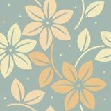 Modèle sans fin avec les fleurs et les feuilles décoratives Photo libre de droits
