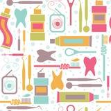 Modèle sans fin sur le thème de soins dentaires illustration de vecteur