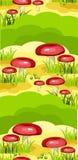 Modèle sans joint de clairière de champignon de couche Photographie stock libre de droits