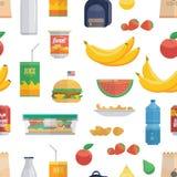 Modèle savoureux de nourriture de déjeuner illustration stock