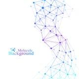 Modèle scientifique de chimie Recherche d'ADN de molécule de structure comme concept Fond de la science et technologie illustration libre de droits