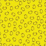 Modèle seemless de Bitcoin sur le fond jaune, vecteur illustration de vecteur