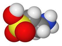 Modèle servant à blanc de molécule de taurine Image stock