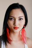 Modèle sexy de mode sérieuse professionnelle Photographie stock