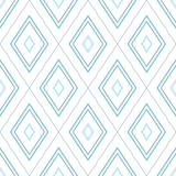 Modèle simple de losange bleu Photo stock