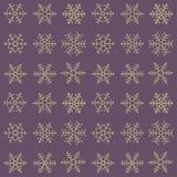 Modèle simple sans couture de différents flocons de neige géométriques bleus Photographie stock libre de droits
