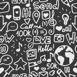 Modèle social de media Photo stock