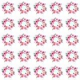 Modèle sophistiqué de fines herbes de guirlande de rose de wildflowers de beau ressort coloré floral tendre Image stock