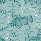 Modèle sous-marin sans couture illustration libre de droits