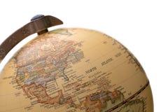 Modèle sphérique de globe de globe du monde images libres de droits
