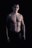 Modèle sportif de forme physique d'homme Photo stock