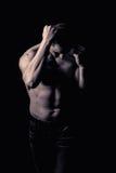 Modèle sportif de forme physique d'homme Images libres de droits