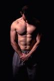 Modèle sportif de forme physique d'homme Images stock