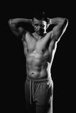 Modèle sportif de forme physique d'homme Photographie stock