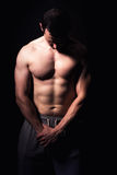 Modèle sportif de forme physique d'homme Image libre de droits