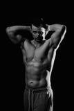 Modèle sportif de forme physique d'homme Photographie stock libre de droits