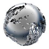 Modèle stylisé en métal de la terre illustration stock