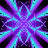 Modèle symétrique au néon Image stock