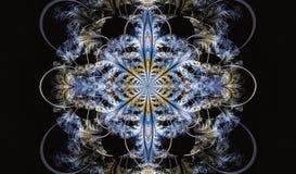 Modèle symétrique multicolore de fractale comme fleur Photographie stock