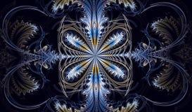 Modèle symétrique multicolore de fractale comme fleur Photo stock