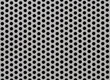 Modèle texturisé abstrait d'acier ou en métal avec les cellules rondes Image libre de droits