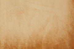 Modèle texturisé de papier âgé Toile jaune foncée de couverture d'album Macro vue vide vide Photo stock
