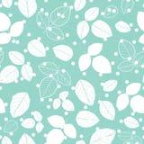 Modèle texturisé de répétition de textile vert en bon état de feuilles images stock