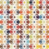 Modèle texturisé de vecteur abstrait de cercle Photo libre de droits