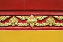 Modèle thaïlandais dans le temple Images stock