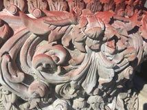 Modèle thaïlandais de stuc dans le temple Image stock