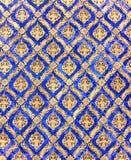 Modèle thaïlandais de style de mur de Bouddha Photos stock
