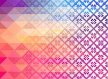 Modèle thaïlandais de vectorRetro de modèle d'Art Background des formes géométriques Drapeau coloré de mosaïque Photographie stock