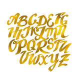 Modèle tiré par la main d'alphabet d'or Dood d'illustration du vecteur Eps10 Images stock