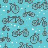 Modèle tiré par la main de bicyclette Photos libres de droits