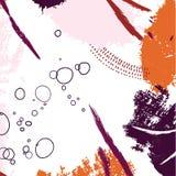 Modèle tiré par la main de contraste de traçage Calibres créatifs abstraits, cartes, couvertures de couleur réglées Conception de illustration libre de droits