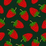 Modèle tiré par la main de fraises Photographie stock libre de droits