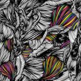 Modèle tiré par la main de griffonnage sans couture de vague de vecteur Rebecca 36 Images stock