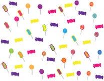 Modèle tiré par la main de sucreries et de bonbons illustration stock