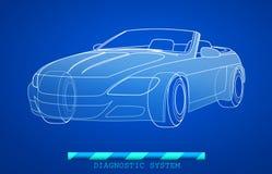 Modèle tiré par la main de voiture Image stock
