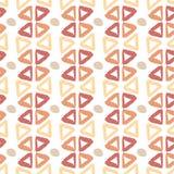 Modèle tiré par la main ethnique avec des éléments d'encre de triangle Texture sans joint illustration libre de droits