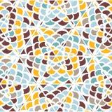 Modèle tiré par la main géométrique sans couture abstrait Photo stock