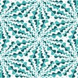 Modèle tiré par la main géométrique sans couture abstrait Photographie stock