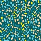 Modèle tiré par la main géométrique sans couture abstrait Image stock