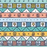 Modèle tiré par la main indigène mignon Photo stock