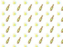 Modèle tiré par la main mignon de bière de griffonnage Images libres de droits