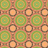 Modèle tiré par la main sans couture de mandala Éléments décoratifs de cru Photographie stock libre de droits