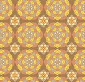 Modèle tiré par la main sans couture de mandala Éléments décoratifs de cru Images libres de droits